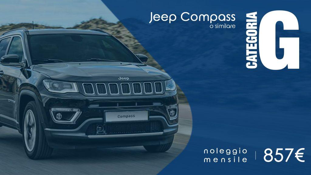 noleggio a medio termine jeep compass